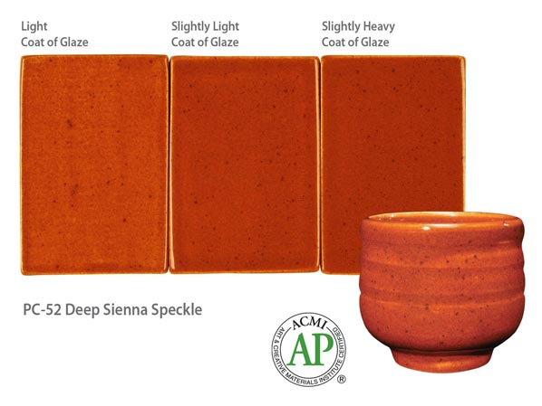 Potters Chioce Glaze Deep Sienna Speckle