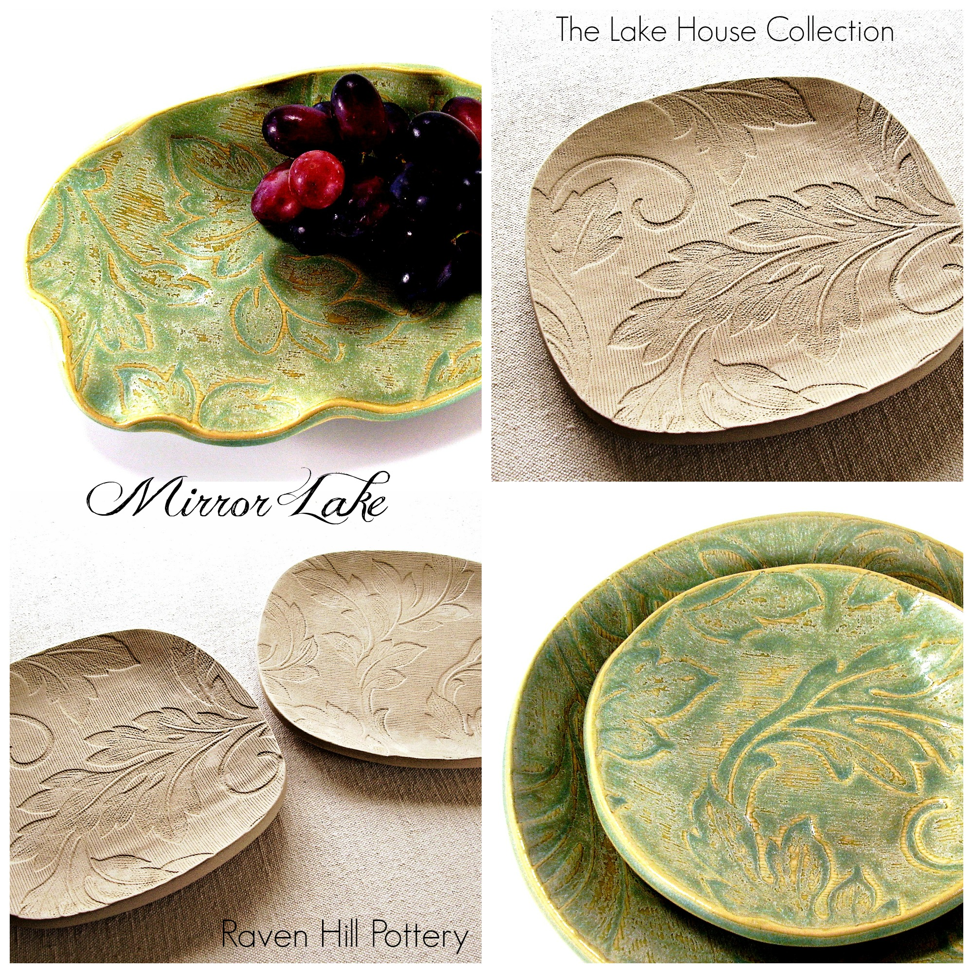 mirror lake the lake house collection by melinda marie alexander from ravenhillpottery.etsy.comjpg