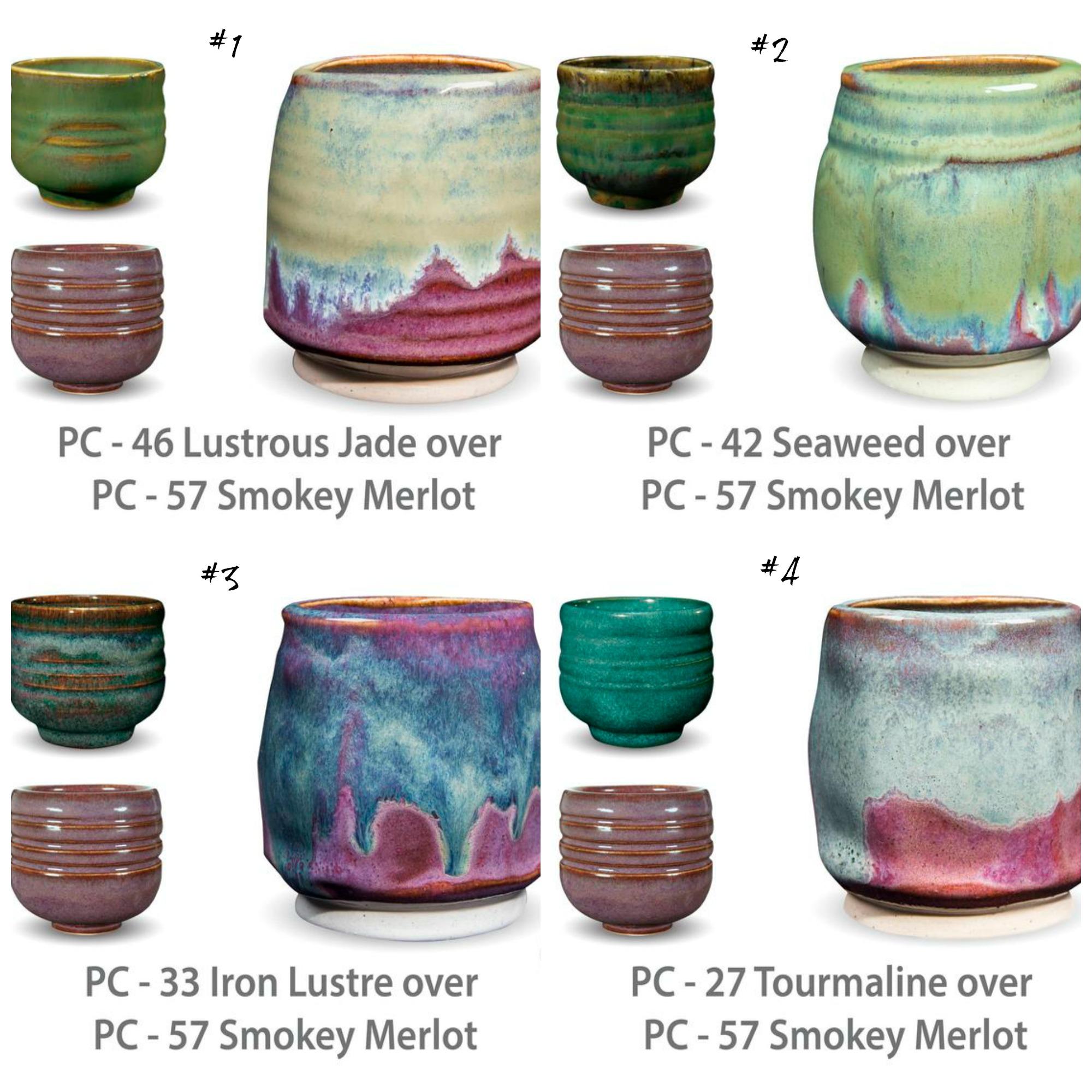 PC glaze combinations