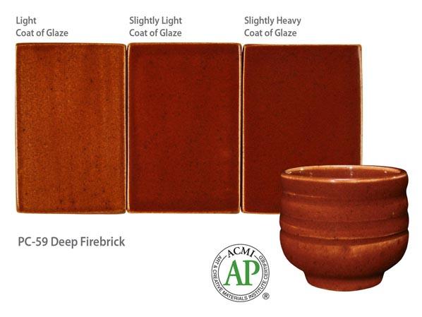 Potters Choice Glaze Deep Firebrick