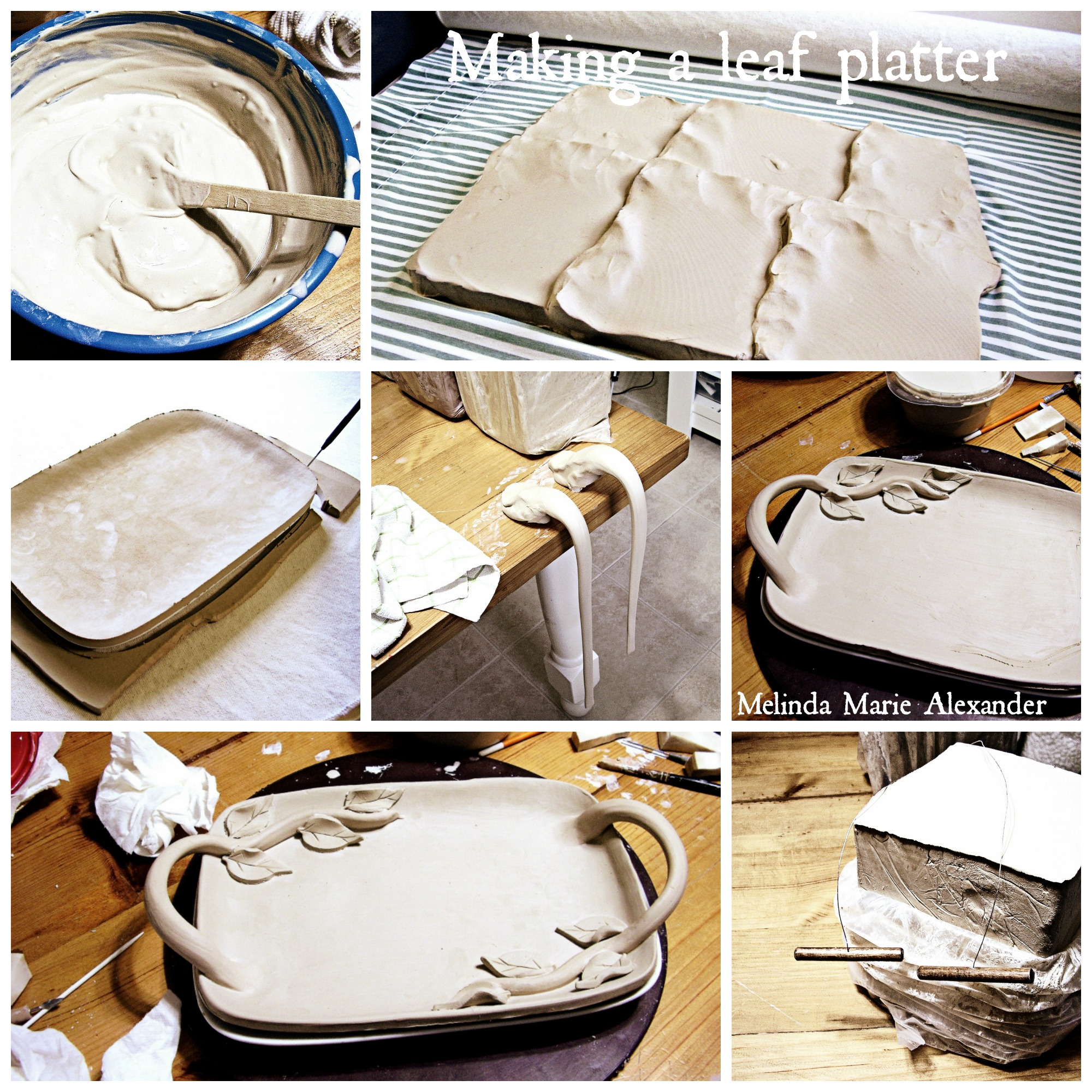 making-a-leaf-platter-pottery-inspiration-board-with-text